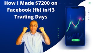 How I Made $7200 on Facebook (fb) in 13 Trading Days Using My Swing Trading Strategy?