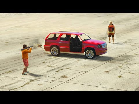 GTA 5 - Can A Rocket Go Through Car Windows, Bushes, Under The Car,..etc?