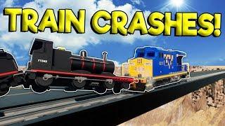 LEGO TRAIN CRASHES & ROCKET TRAIN! - Brick Rigs Gameplay - Lego Train Simulator Crashes
