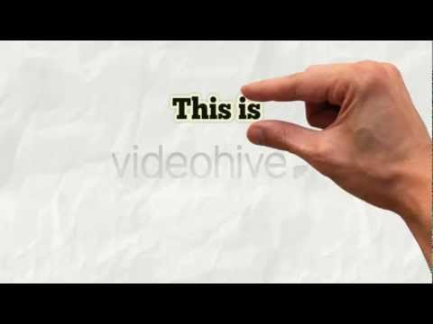 HAND IN ACTION PRESENTATION PROMO ELEGANT AFTER EFFECTS TEMPLATE YouTube