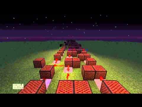 【minecraft】オルゴールver.進撃の巨人の紅蓮の弓矢をnoteblockで演奏してみた