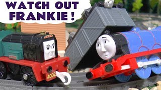 Thomas and Friends Toy Train Frankie starts work with Toby and Percy - Gordon has an accident TT4U