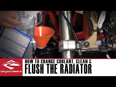 How to Flush the Radiator on your Motorcycle and Change the Coolant