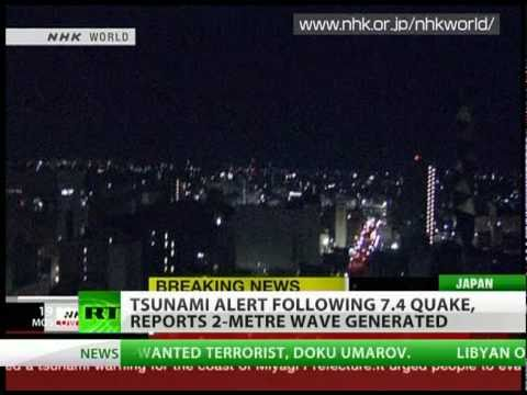 New strong 7.4 earthquake rocks Japan, tsunami alert issued