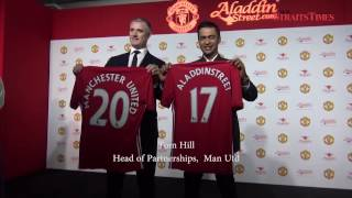 Aladdin partners Manchester United