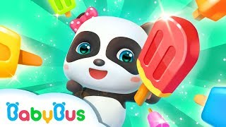 Learn How To Make Ice Cream With Baby Panda | Ice Cream Factory Game For Kids | BabyBus