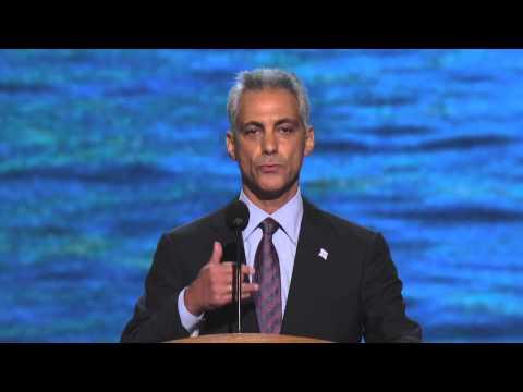 Mayor Rahm Emanuel at the 2012 Democratic National Convention