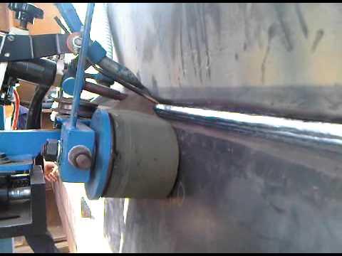 Double Side Tank Welder Welding In Progress Youtube