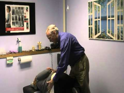 This is Dr. Pat Dougherty performing a demonstration of a general chiropractic back adjustment.  Visit his website at http://www.spokane-chiropractic.com to set up an appointment today.