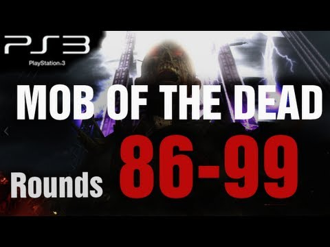 Mob of the Dead PS3 Round 85-100 Solo Strategy Gameplay LIVE - Black Ops 2 Zombies by TheRelaxingEnd