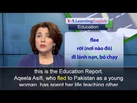 Phát âm chuẩn - Anh ngữ đặc biệt: Afghan Refugee Wins UN Teaching Award (VOA)