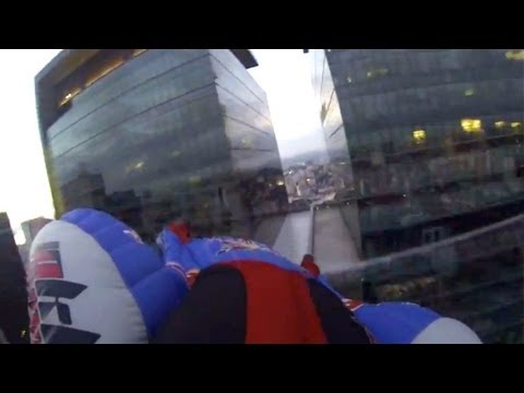 Urban wingsuit flying into Rio de Janeiro - Ludovic Woerth &amp; Jokke Sommer