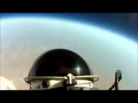 Felix Baumgartner Jump From Space Helmet Cam 1080p