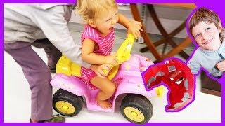 Baby Drives On Four Wheeler Through Good Will
