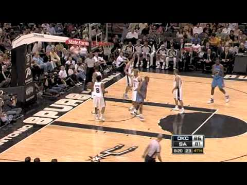 Oklahoma City Thunder vs. San Antonio Spurs 2009/3/31 Video