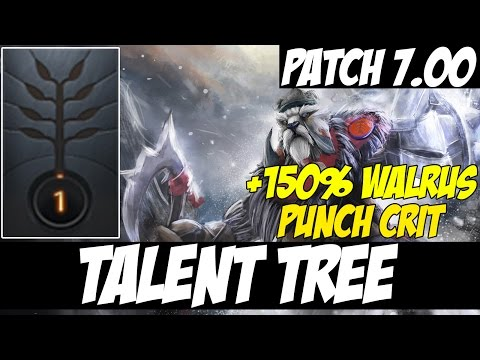 +150% Walrus Punch Crit??? - TALENT TREE TUSK - Patch 7.00 - Dota 2
