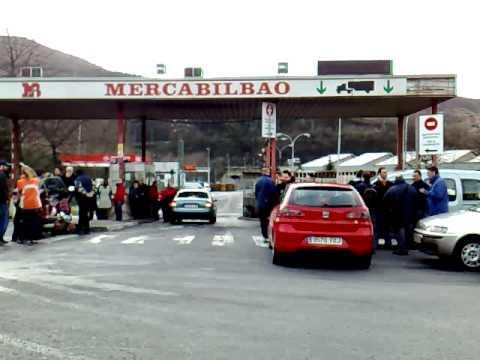 Situación de la entrada del MercaBilbao [Desbordamientos de Basauri 27.1.09]