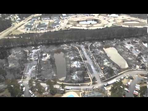 Aerial video of the Windsor Green fire site