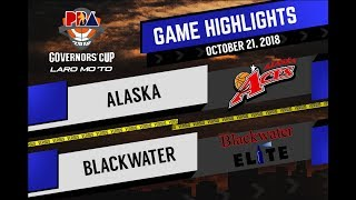 PBA Governors' Cup 2018 Highlights: Blackwater vs Alaska Oct 22, 2018