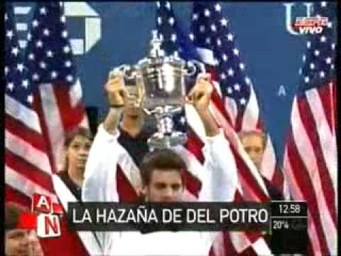 Del potro campeon US open 2009 - Del potro in Us open 2009