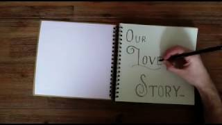 Our Love Story (creative baby anouncement)