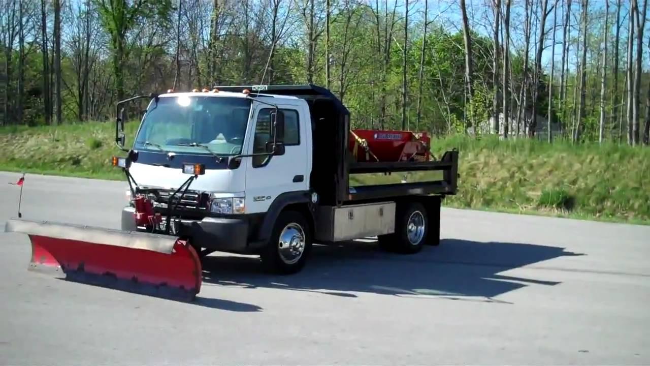 10061ema 2006 Ford Lcf Dump Plow Spreader Youtube