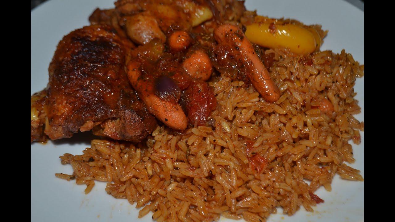 Riz au gras au poulet cuisine 228 for Yankey cuisine africaine a volonte