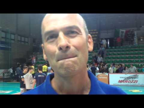 Mirko Corsano dopo la sconfitta del suo Tricase a Castellana.