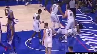 Embiid with the elbow to Jarrett Allen and gets the flagrant foul. 😳😳😳