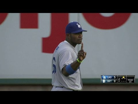Puig gives warning after call is overturned