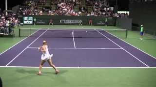 [15] Sabine Lisicki vs. Aleksandra Wozniak - 2014 BNP Paribas Open