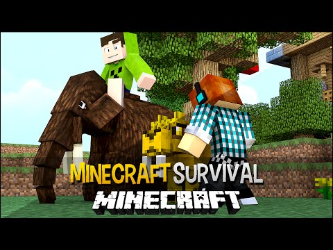 Minecraft Survival Ep.154 - Eles Cresceram e Tragedia Na Árvore da Vida !!