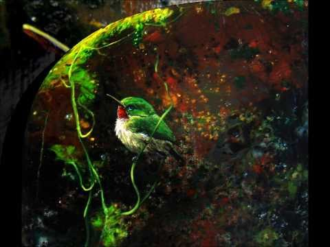 "Stove Top Art ""Melting crayons"" Green Tody on river bank"