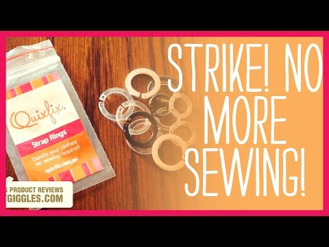 No Sew Solution - Quixfix Strap Rings - Product Review