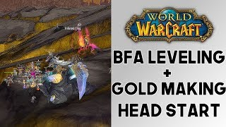 World of Warcraft How To Get a Head Start To BFA Gold Making And Leveling! BFA Tips! (8.0)(8.0.1)