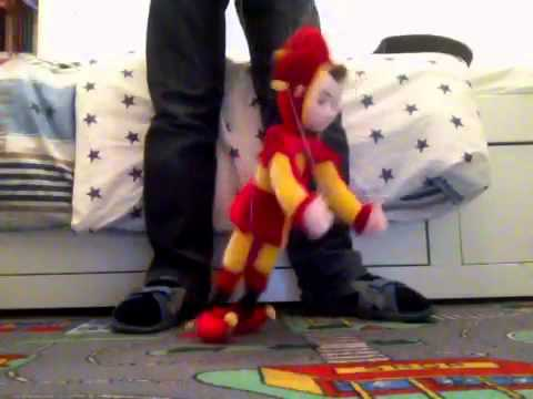 My Puppet Dancing To Crazy Frog Ding Ding video
