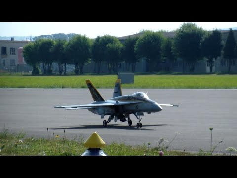 RC Turbine Model Jet Royal Maces McDonnell Douglas FA-18/VFA-27 Military Airplane Payerne 2015