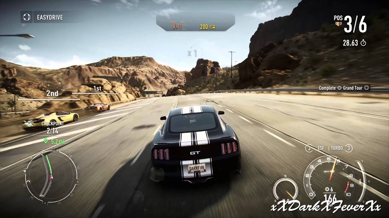 Need For Speed Rivals 2015 Ford Mustang Gt Gameplay Pc