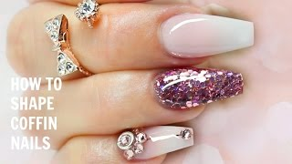 How to Properly Shape/File Coffin Nails