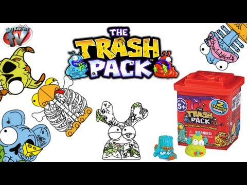 The Trash Pack Series 4 Single Trash Cans Toy Review. Moose