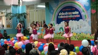 Múa thể dục nhiệp điệu cho bé - Các bé lớp Mầm của Trường Mâm non Lê Thành thể hiện