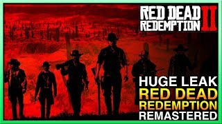 Red Dead Redemption 2 Leaked Update - Red Dead Redemption Remaster Possible? Red Dead Online?