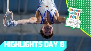High Flying Gymnastics & stunning Hockey Finals   YOG 2018 Day 8   Top Moments
