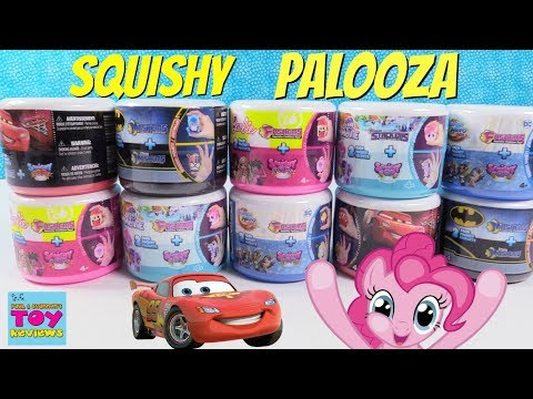 Fashems Mashems Squishy Pop Palooza Disney Cars Barbie My Little Pony Toy Review | PSToyReviews
