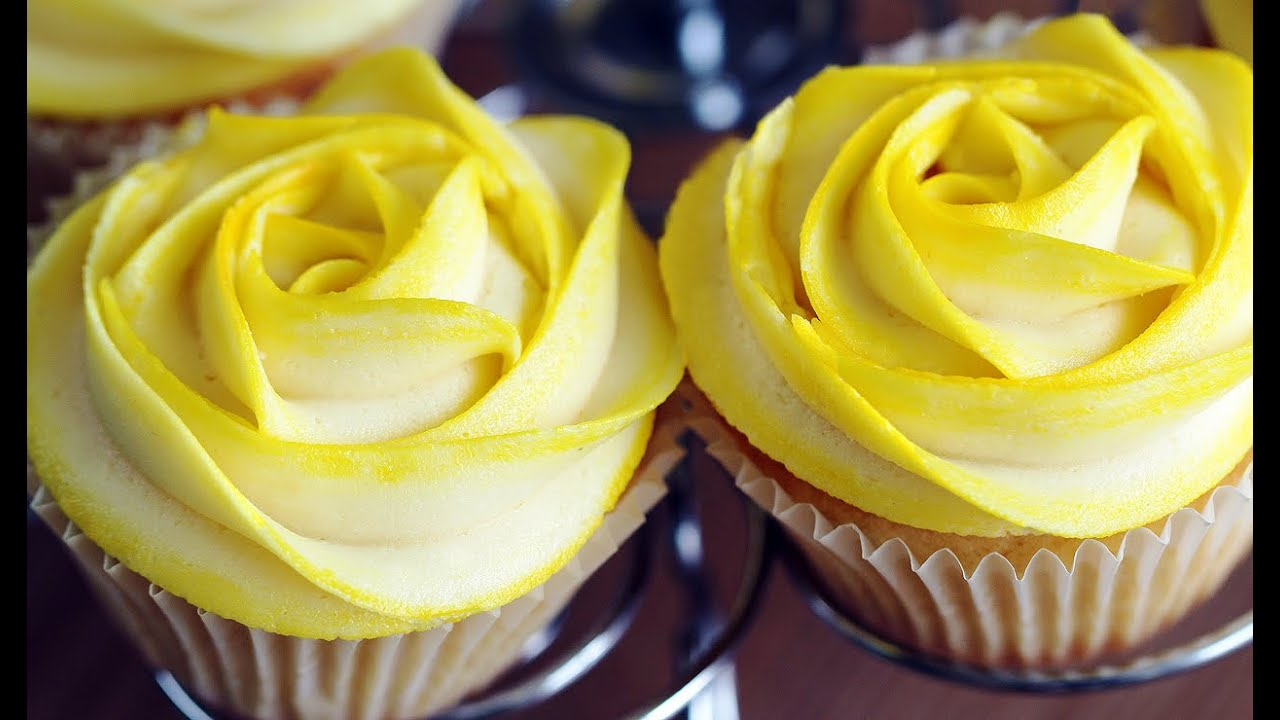 Rose Cupcakes Tinted Buttercream Frosting Decoration 로즈