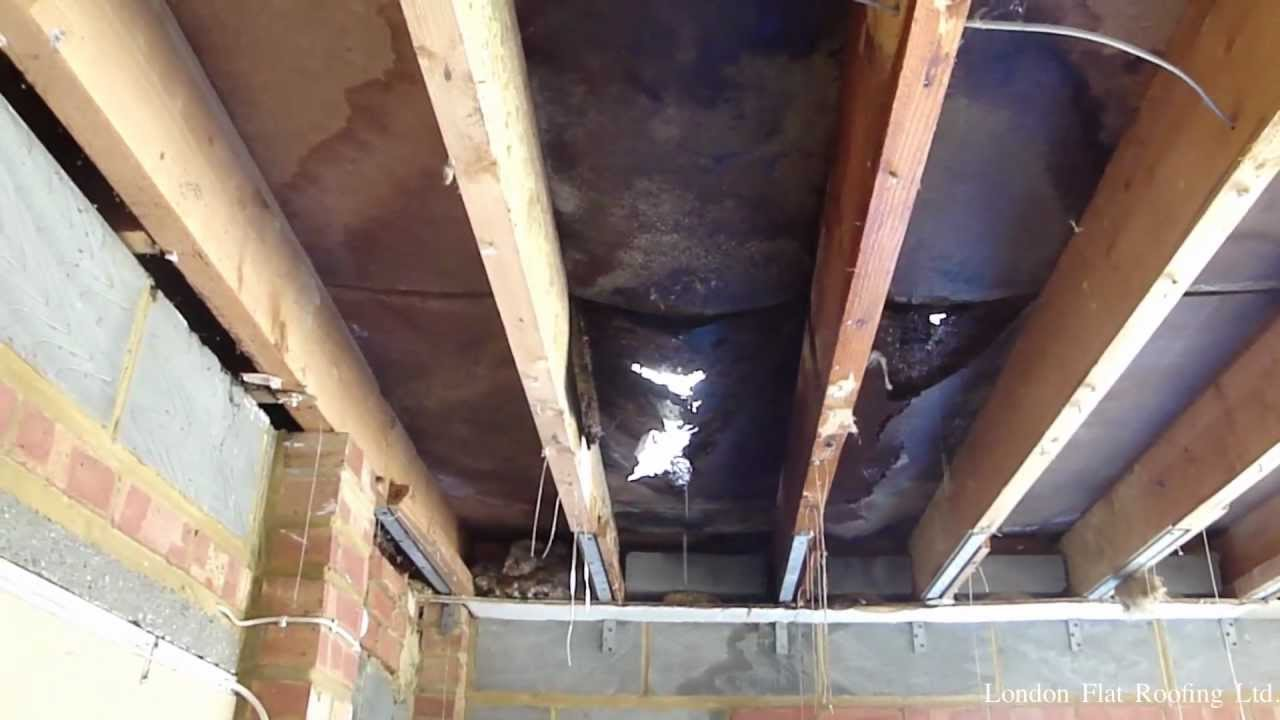 Garage Roof Covered With Epdm Rubber Youtube
