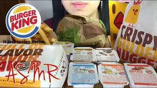 ASMR Burger King FEAST Whooper, Chicken Fries, Mozzarella Cheese Sticks Mukbang Eating Sounds 먹방