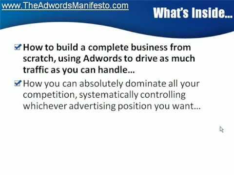 http://www.TheAdwordsManifesto.com - Video 3 - Learn Adwords Training