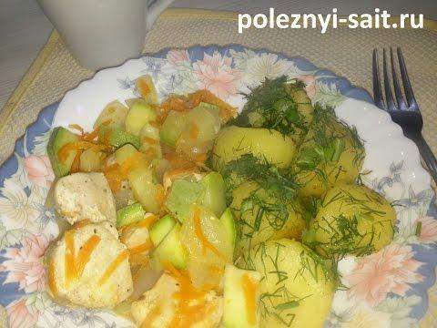Картошка по деревенски с индейкой и овощами