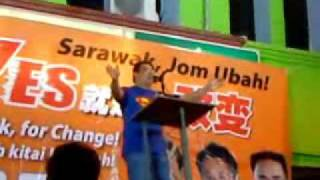 Superman Professor Hew Kuan Yau (丘光耀) @ Miri DAP 6th night Ceramah Part 2.wmv